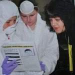 KS2 pupils with Jacqui Thomposn