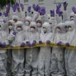 KS3 CSI Forensic Science students
