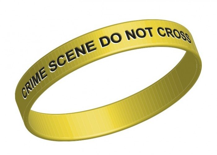 CSI Yellow & Black Silicon Wristband