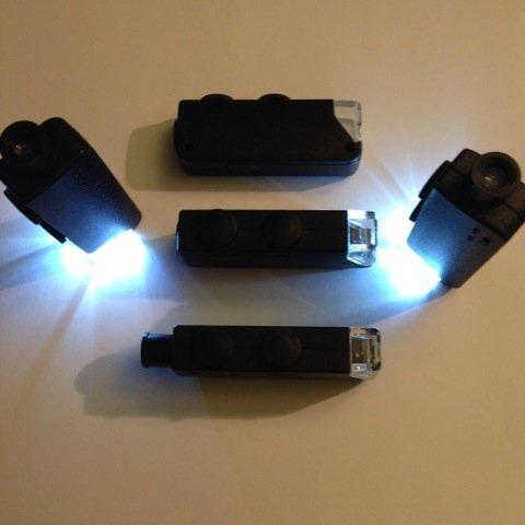 Black LED Mini Microscope Torch