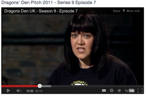 In the BBC Dragons' Den with Jacqui Thompson from PULSE Education & Business Services
