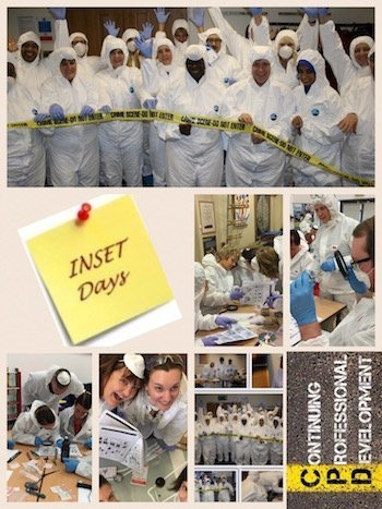 Primary Pupils Engaged in CSI Forensic Science Workshop