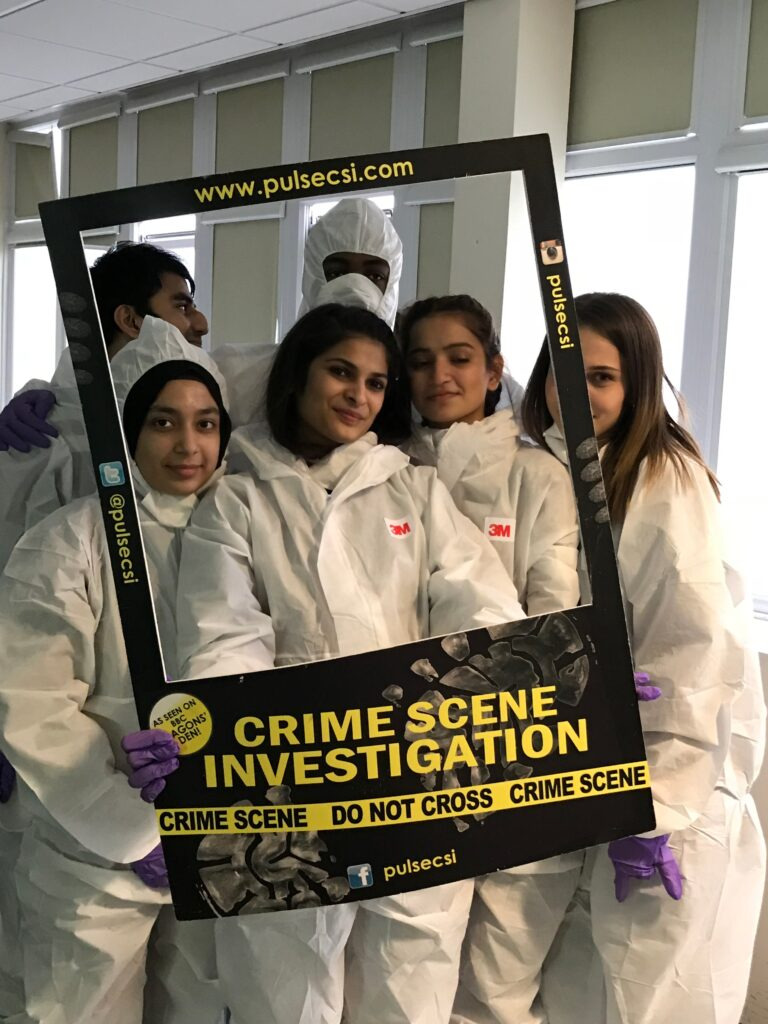 KS5 Students Engaged in BTEC Forensic Science Workshop